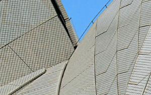 Zoom lens Sydney Opera House Roof Tiles