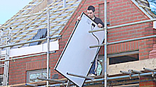 Solar panel PV installation