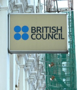 British Council sign on building Penang Malaysia