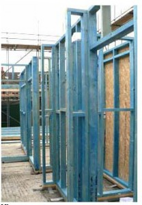 Wood frame ready for insulation panels