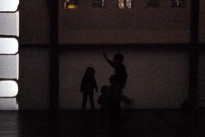 Kids running about at Turbine Hall, Tacita Dean FILM Tate Modern London SE1