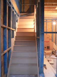 Stairs custom built in situ