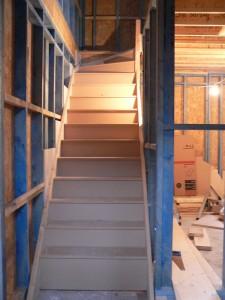Stairs custom built in situ