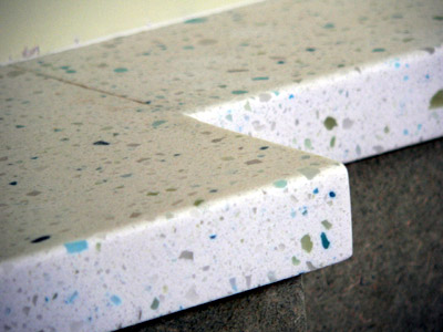 Corian recycled plastic resin worksurface