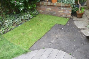 Lawn geometry - if you have a big enough lawn you can spell out a word for Google Earth to see
