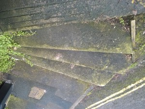 Now is the time to clean mould and algae from steps and garden furniture