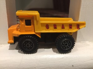 Toy tipper truck or crane