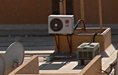 Air condition unit outside building
