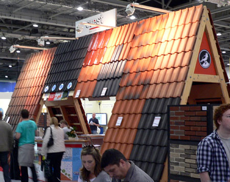 Crest roofing and tiling display