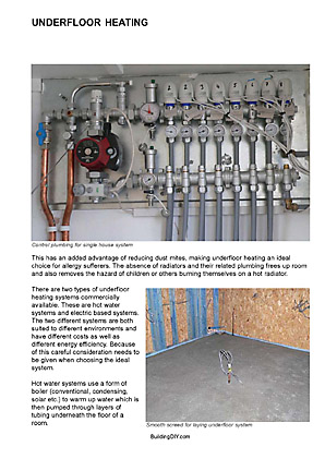 Hot water Underfloor heating