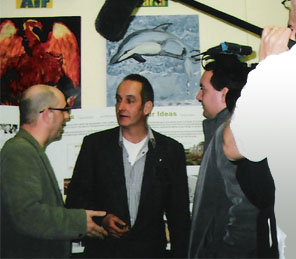 Geoff Davis and Kevin McCloud in Swindon