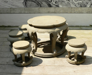 outdoor furniture chinese stone table stools