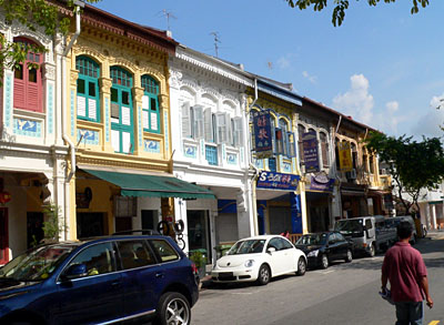 Peranakan shophouse Singapore