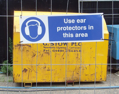 Sign - wear ear protectors